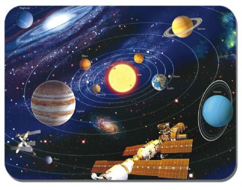 Map Of The Solar System Mouse Mat. The Planets astronomy Mouse Pad